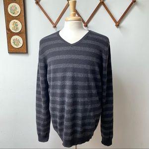100% Cashmere Striped Sweater